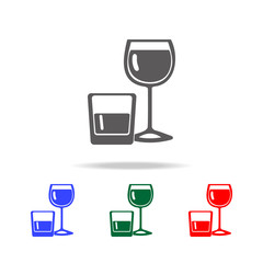 alcohol in glasses icon. Elements of disco and night life multi colored icons. Premium quality graphic design icon. Simple icon for websites, web design, mobile app, info graphics