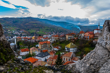 View to the city of Travnik