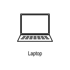 Laptop icon. Element of computer part for mobile concept and web apps. Thin line  icon for website design and development, app development. Premium icon