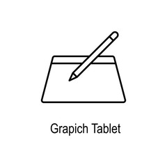 Graphic tablet icon. Element of computer part for mobile concept and web apps. Thin line  icon for website design and development, app development. Premium icon