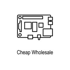 PC Chip icon. Element of computer part for mobile concept and web apps. Thin line  icon for website design and development, app development. Premium icon