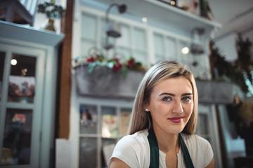 Portrait of female florist smiling