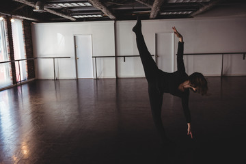 Woman practicing dance