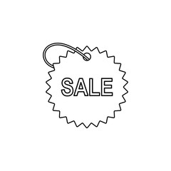 tag with the word sale icon. Element of sale signs for mobile concept and web apps. Thin line  icon for website design and development, app development. Premium icon