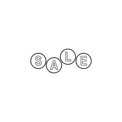 the word sale in circles icon. Element of sale signs for mobile concept and web apps. Thin line  icon for website design and development, app development. Premium icon
