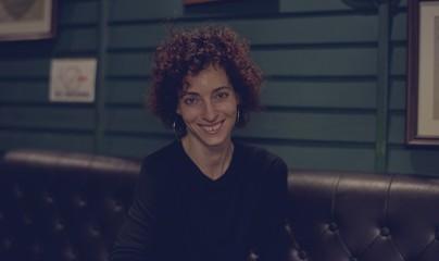 Portrait of Caucasian woman in a pub