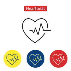 Cardiogram icon. Heart icon with sign heartbeat.