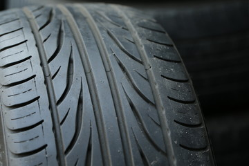 Car's tire detail