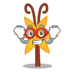 Super hero vanilla character cartoon style