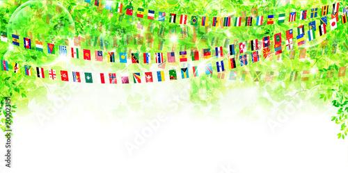 国旗 新緑 運動会 背景 Fotoliacom の ストック画像とロイヤリティ