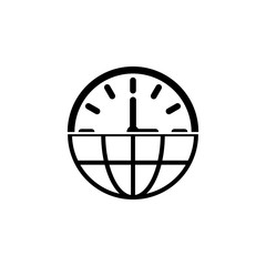 global clock icon. Element of time managment illustration. Premium quality graphic design icon. Signs and symbols collection icon for websites, web design, mobile app