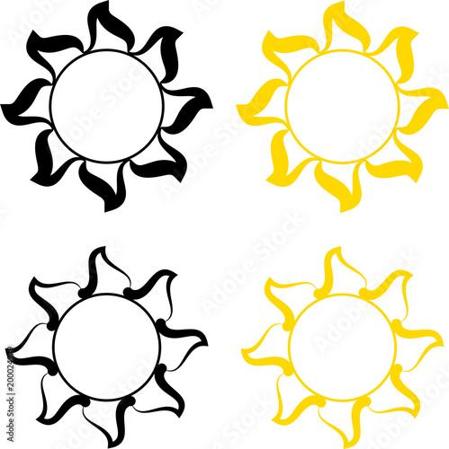 246625785 Tribal Tattoo Sun Design