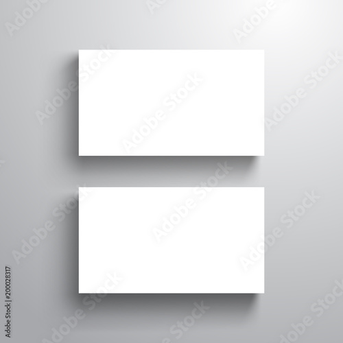 Blank design business card template mock up for name card vector blank design business card template mock up for name card vector illustration reheart Image collections