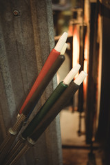 Close-up of blowpipes