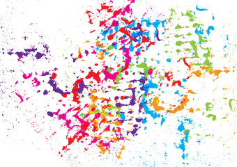 abstract vector splatter color background. illustration vector design.