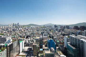 Cityscape of Yeoksam-dong, Gangnam-gu, Seoul, Republic of Korea