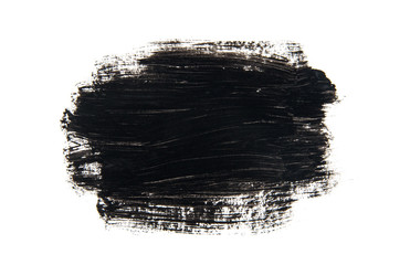 Black abstract background in watercolor