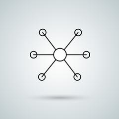 Molecule and atom vector icon