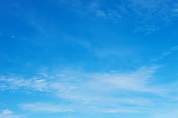 Aluminium Prints Heaven White clouds in blue sky.