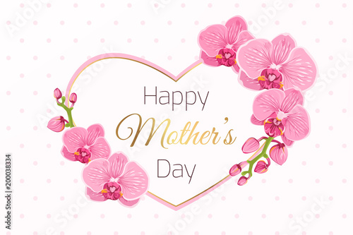 happy mothers day greeting card template exotic bright pink purple