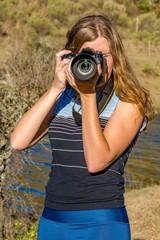 Fotógrafa en la naturaleza
