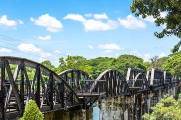 The Bridge of the River Kwai, Kanchanaburi, Thailand.