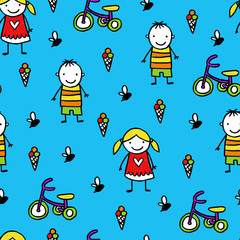 Vector kids pattern