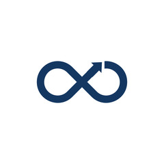 Infinity Arrow Logo Icon Design