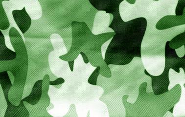 Military uniform pattern in green tone.