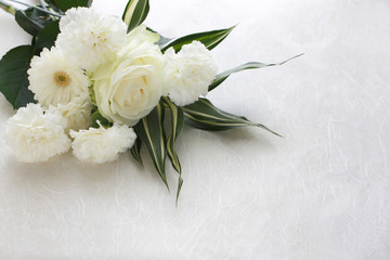 Several beautiful white flowers Wall mural