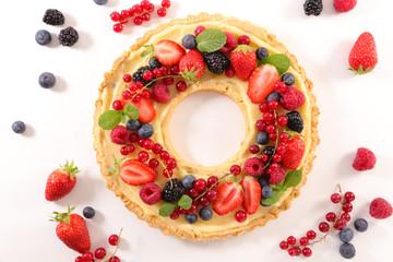 fruit tart with cream Wall mural