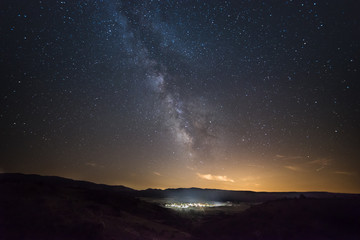 Milky Way over Cantalojas. Spain