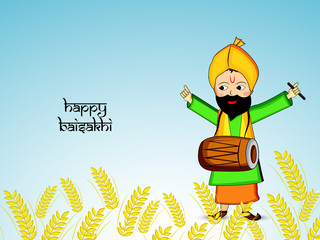 Illustration of background for Indian festival Baisakhi