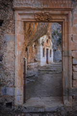 Ruins of monastery Governeto at Crete, Greece