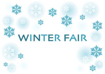 Winter Fair ウィンターフェア 冬 雪 イラスト ロゴ
