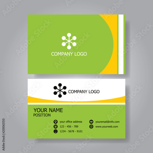 modern classic flat business card design template fotolia com の