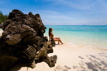 Tourist on Koh Poda island
