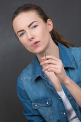 vape girl - girl with electronic cigarette