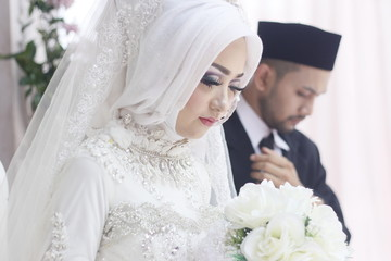 Cute & Romantic Muslim Couples at a celebration ceremony