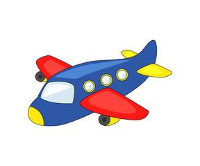 Cute cartoon airplane.