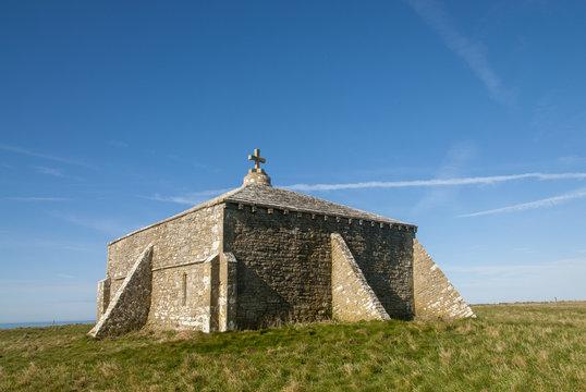 St Albans or Adhelms chapel near Worth Matravers, Purbeck, Dorset, UK