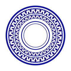 plate design, ceramic decorative round ornamental Islamic style, Mandala background, porcelain ornate dish, vector illustration