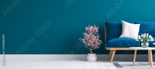 Wall mural Hipster style interior background, 3D render