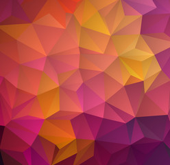 Abstract multicolored polygon, low polygon background. Transfusion of color. All the colors of the rainbow. Geometric Pattern