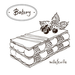 Millefeuille Graphic Illustration