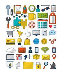 Set of digital marketing