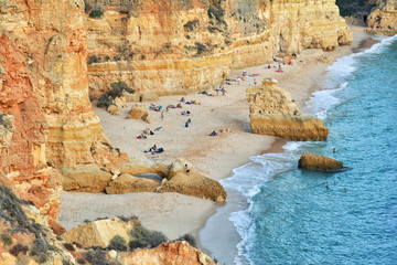 Algarve beach, amazing destination in portugal and  all seasons attraction for many tourists in entire world