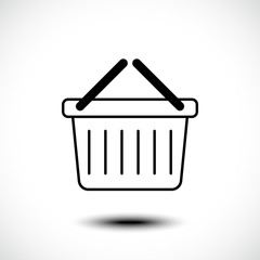 Basket icon. Vector illustration
