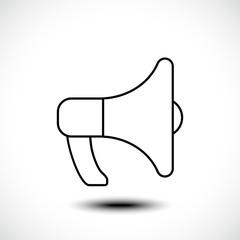 Megaphones line icon, Advertising line icon. Vector illustration