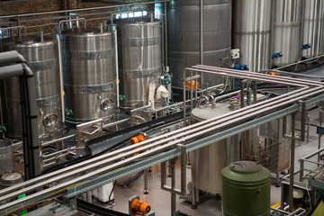 Machinery and production lines in juice factory
